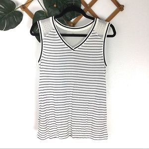 Lorna Jane | New Striped Tank Top Mesh Small